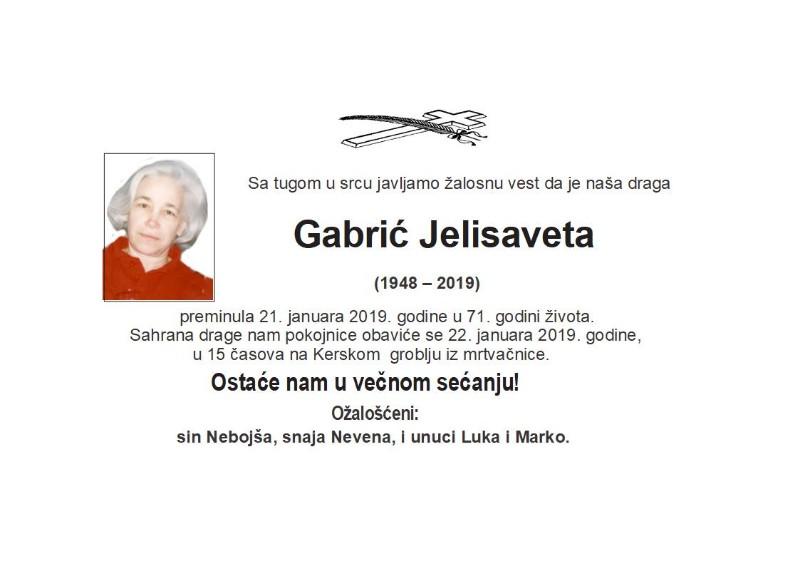GABRIĆ JELISAVETA