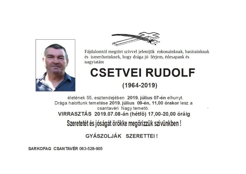 CSETVEI RUDOLF Čant.