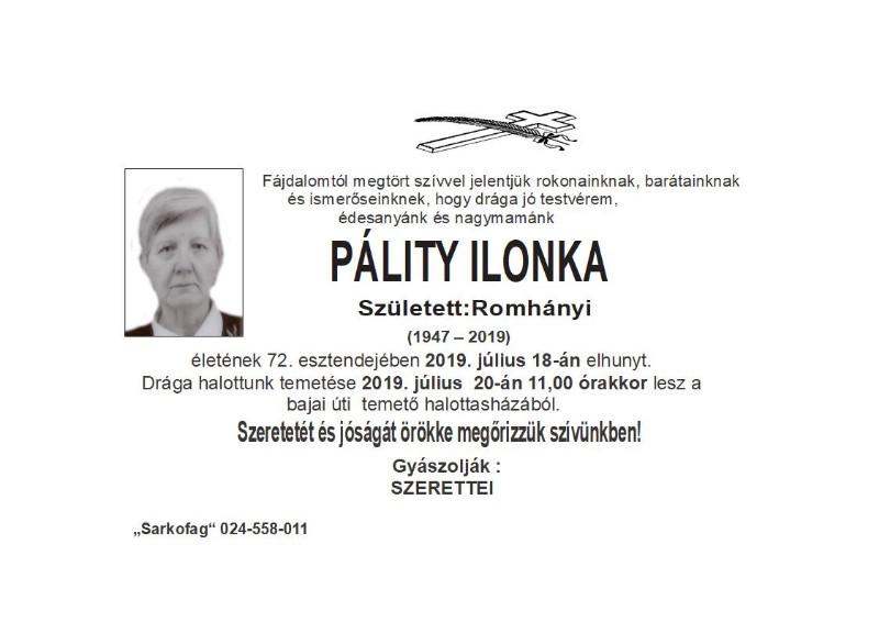 Pálity Ilonka -  subotica