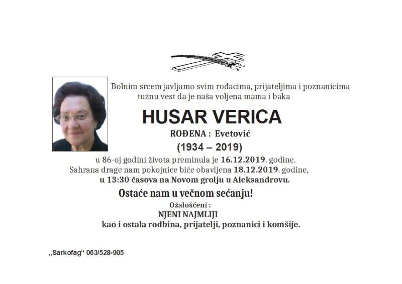 HUSAR VERICA