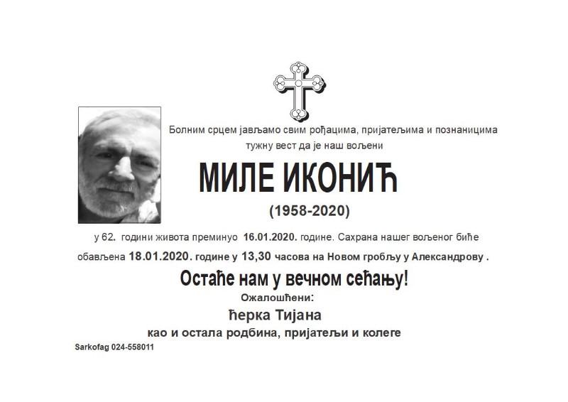 МИЛЕ ИКОНИЋ