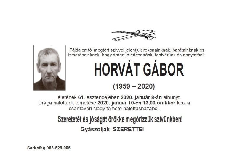 HORVAT GABOR CANTAVIR