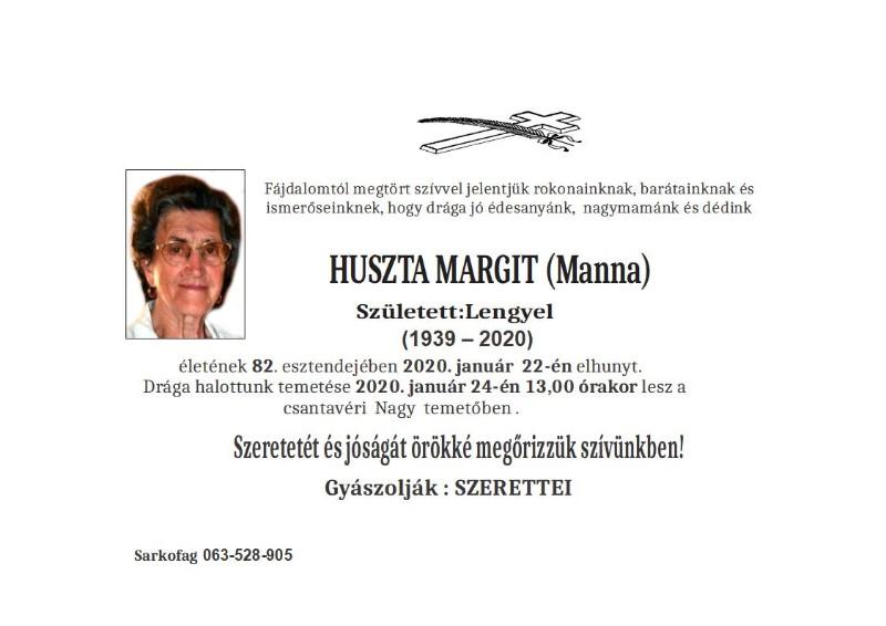 HUSTA MARGIT CANTAVIR