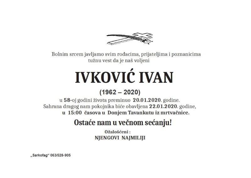 IVKOVIĆ IVAN D.TAVANKUT.