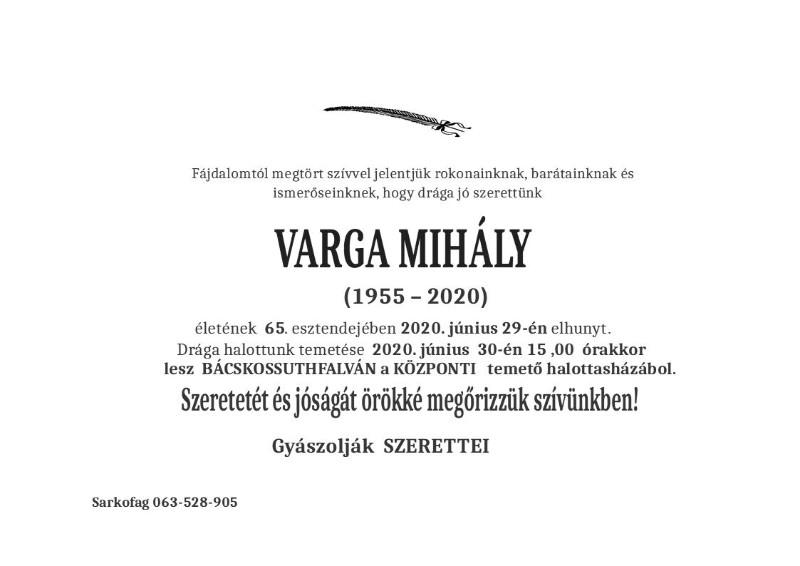 VARGA MIHALJ