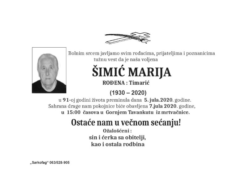 ŠIMIĆ MARIJA
