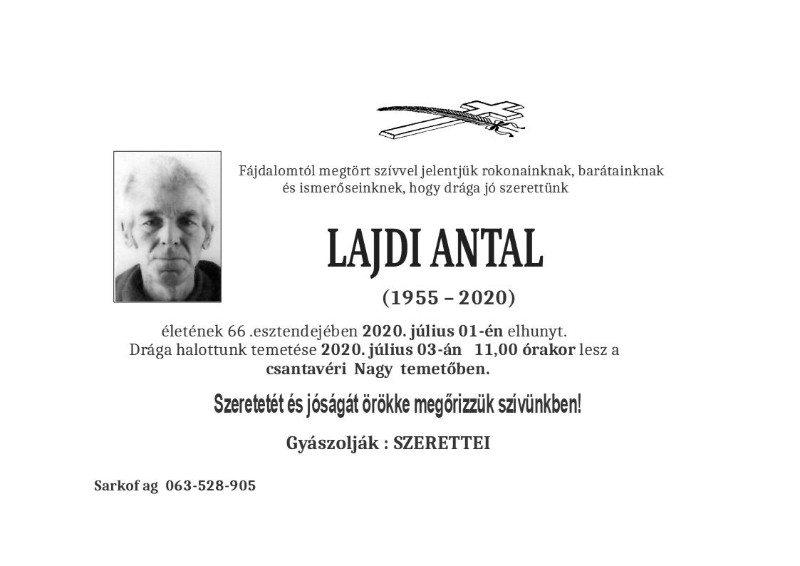 LAJDI ANTAL ČANTAVIR 1