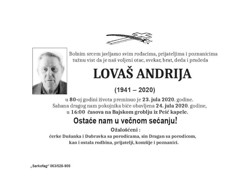 LOVAŠ ANDRIJA