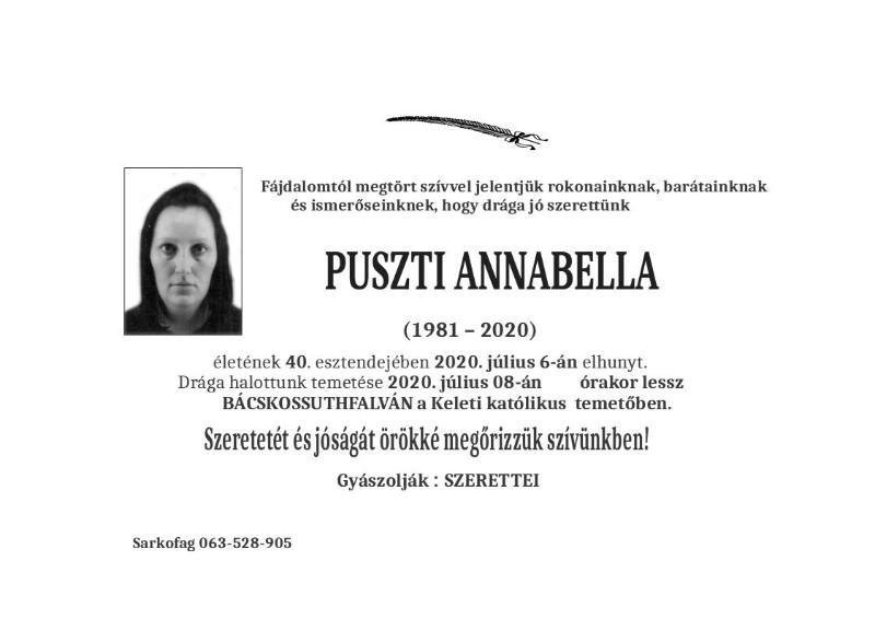 PUSZTI ANNABELLA