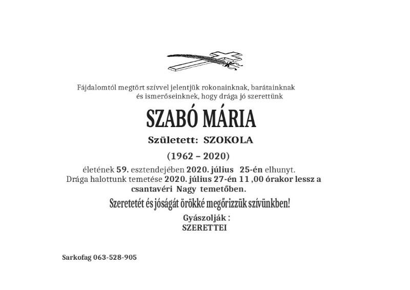 SZABO MARIA ČANTAVIR1
