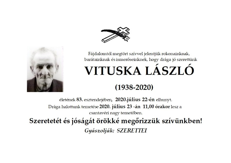 VITUSKA POSMRTNICA