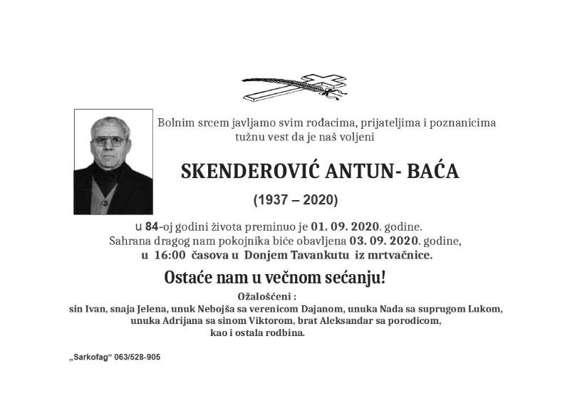 SKENDEROVIĆ ANTUN 1