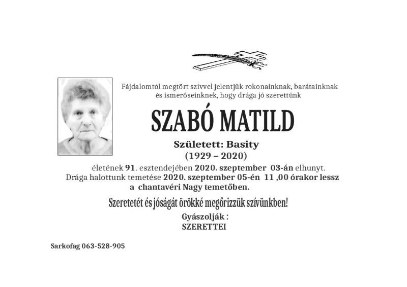 SZABO MATILD