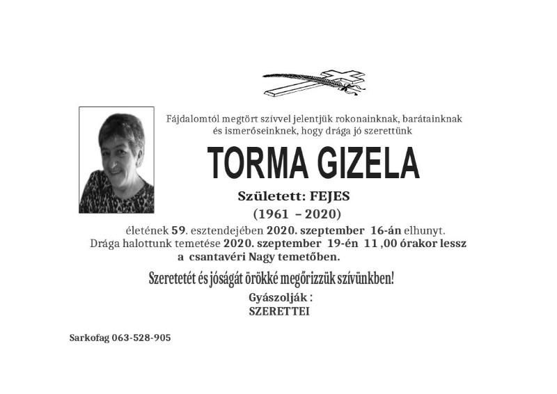 TORMA GIZELA